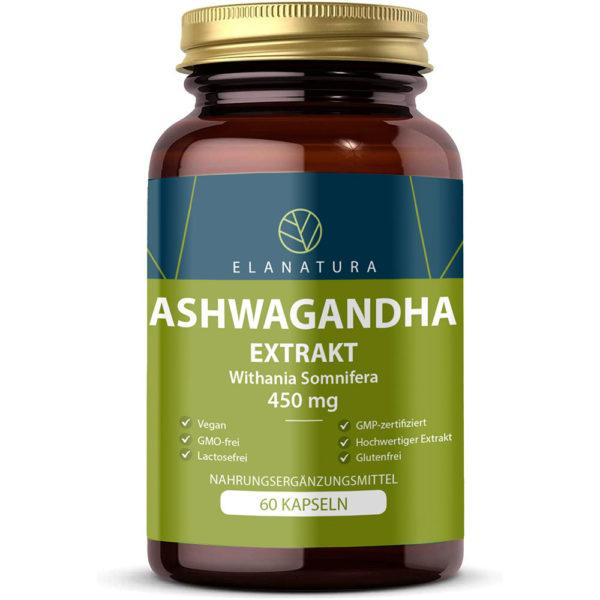 ashwagandha extrakt 450 mg elanatura